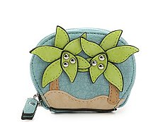 Violet Ray Palm Leaves Coin Purse