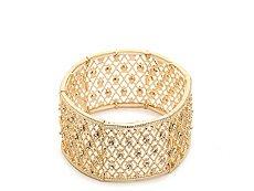 One Wink Gold Filigree Stretch Bracelet