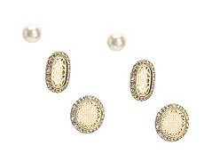 One Wink Filigree Trio Stud Earring Set