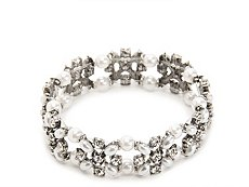 One Wink Pearl Chainlink Stretch Bracelet