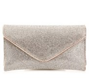 Lulu Townsend Rhinestone Envelope Clutch