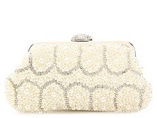Lulu Townsend Allover Pearl Clutch