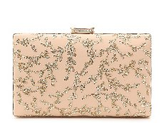 Lulu Townsend Gold Leaf Clutch