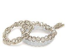 One Wink Tassle Stretch Bracelet Set