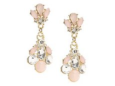 One Wink Blush Statement Drop Earrings