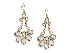 One Wink Crystal Statement Drop Earrings