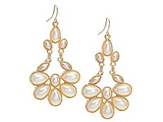 One Wink Pearl Statement Drop Earrings