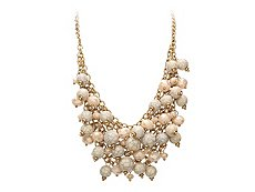 One Wink Multi Beaded Bib Necklace