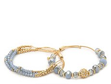 One Wink Blue Pull Tie Bracelet Set - 2 Pack