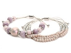 One Wink Pull Tie Bracelet Set - 2 Pack