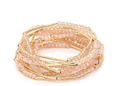 One Wink Glass Bead Stretch Bracelet Set