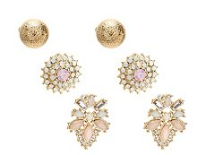 One Wink Floral Ivory Trio Stud Earring Set