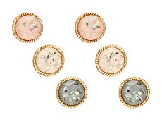 One Wink Color Stain Trio Stud Earring Set