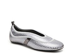 Final Sale - Hogan Metallic Reptile Leather Sport Flat