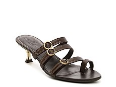 Final Sale - Hogan Buckle Leather Sandal