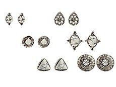One Wink Silver Marble Stud Earring Set