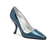 Final Sale - Roger Vivier Metallic Leather Curved Pump