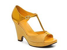 Final Sale - Tod's Melina Leather Suede Wedge Sandal