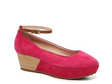 Final Sale - Tod's Suede Wedge Pump
