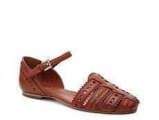 Final Sale - Tod's Ginevra Leather Flat Sandal