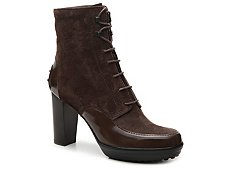Final Sale - Tod's Suede Lace-Up Bootie
