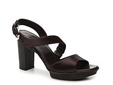 Final Sale - Hogan Satin Slingback Platform Sandal