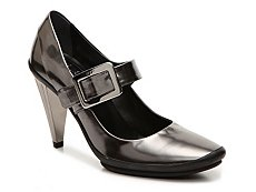 Final Sale - Roger Vivier Metallic Leather Mary Jane Pump