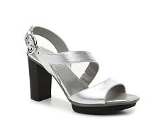 Final Sale - Hogan Leather Slingback Platform Sandal