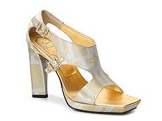 Final Sale - Roger Vivier Metallic Geometric Sandal