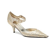 Final Sale - Roger Vivier Metallic Leather Studded Pump