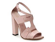 Final Sale - Tod's Leather Block Heel Sandal