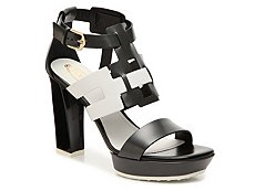 Final Sale - Tod's Leather Color Block Sandal