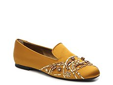 Final Sale - Roger Vivier Satin Beaded Flat