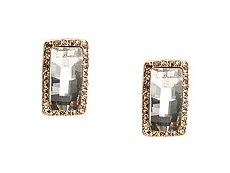 One Wink Rectangle Pave Stud Earrings