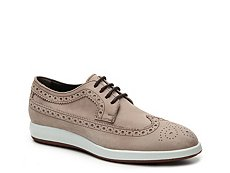 Final Sale - Hogan Nubuck Leather Wingtip Oxford