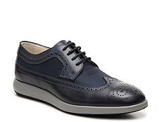 Final Sale - Hogan Mixed Material Wingtip Oxford