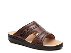 Final Sale - Hogan Leather Slide Sandal