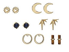 One Wink Sun Moon Stud Earring Set