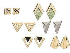 One Wink Square Bar Stud Earring Set