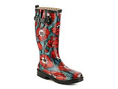Chooka Watercolor Poppy Rain Boot