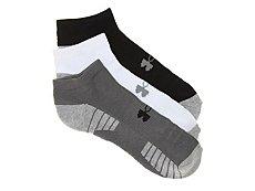 Under Armour HeatGear Tech Mens No Show Socks - 3 Pack