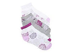 Jessica Simpson Flower Burst Womens No Show Socks - 6 Pack