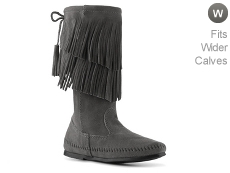 Minnetonka Calf Hi 2 Layer Fringe Western Boot