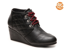 Journee Collection Fold Wedge Bootie