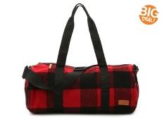 Bill Adler 1981 Red Flannel Weekender Bag
