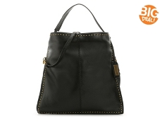 Badgley Mischka Zoe Studded Leather Hobo Bag