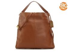 Badgley Mischka Zoe Studded Leather Hobo Bag