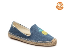 Soludos Denim Pineapple Flat