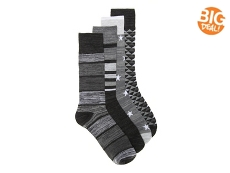 Lucky Brand Geometric Mens Crew Socks - 4 Pack