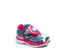 Stride Rite Captain America Boys Toddler Light-Up Sneaker